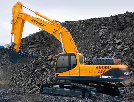 現代385LC-9T挖掘機