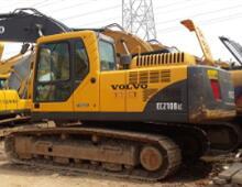 二手沃尔沃210挖掘机